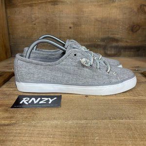 Sperry Top Sider Seacoast Grey Linen Sneakers